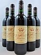 5 bouteilles CHÂTEAU BEL AIR MARQUIS D'ALIGRE 1995 CB Margaux