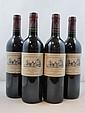 4 bouteilles CHÂTEAU CANTEMERLE 1998 5è GC Haut Médoc (étiquettes fanées)