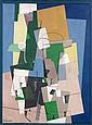 Georges VALMIER (Angoulême, 1885- Paris, 1937) COMPOSITION CUBISTE, 1920 Huile sur toile