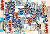 Natalia DUMITRESCO (1915-1997) COMPOSITION - 1991 Huile sur toile