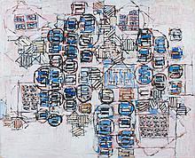 Natalia DUMITRESCO (1915-1997) DELPHES - 1977 Huile sur toile