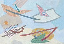 Henri GOETZ (1909-1989) ENSEMBLE DE 2 OEUVRES 29 x 35 cm