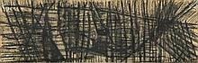 Jean BAZAINE (1904 - 2001) ENSEMBLE DE 2 OEUVRES SUR PAPIER 9 x 27,5 cm