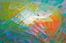 Tadatoschi FUJINO (XXe) COMPOSITION - 1959 Huile sur toile