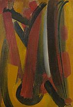 Youla CHAPOVAL (1919-1951) LAMES ROUGES - 1950 Huile sur toile