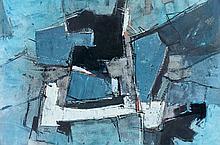 Francis BOTT (né en 1904) COMPOSITION - 1956 Gouache et encre sur papier