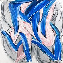 Alain CLEMENT (Né en 1941) OCEANE V, 85 A 6 P - 1985 Acrylique sur toile