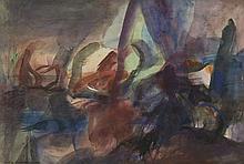 Christine BOUMEESTER (1904 -1971) COMPOSITION - 1943 Aquarelle sur papier