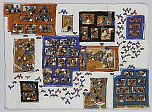 Natalia DUMITRESCO (1915-1997) ENSEMBLE DE 3 GOUACHES 30 x 40,7 cm