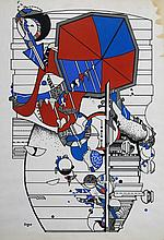 Iaroslav Sossountzov SERPAN (1922-1976) ENSEMBLE DE 3 OEUVRES SUR PAPIER 74 x 51,5 cm