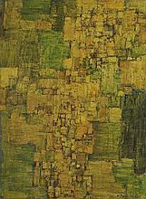 Natalia DUMITRESCO (1915-1997) JAUNE Huile sur toile