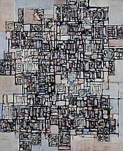 Natalia DUMITRESCO (1915-1997) AUBE - 1978 Huile sur toile