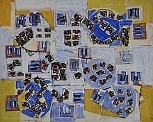 Natalia DUMITRESCO (1915-1997) PLANETE DUTU - 1994 Huile sur toile