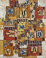 Natalia DUMITRESCO (1915-1997) SANS TITRE - 1990 Huile sur toile