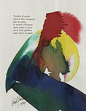 Paul JENKINS (1923 - 2012) SANS TITRE (TUNNELS D'OMBRE) - 1994 Aquarelle sur papier