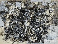 Alexandre ISTRATI (1915-1991) RUE SAUVAGEOT - 1981 Gouache et encre de Chine sur papier