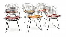 Harry BERTOIA (1915 - 1978) Suite de six chaises