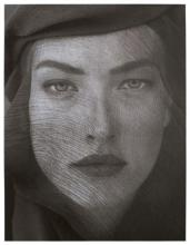 Herb RITTS 1952 - 2002 TATJANA VEILED HEAD, TIGHT VIEW, JOSHUA TREE - 1988 Tirage platine
