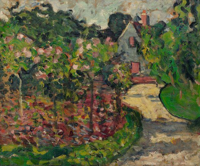 Louis valtat 1869 1952 la maison et le jardin a bernay c for Toile tendue jardin