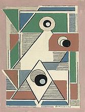 Mikhail Fedorovitch ANDREENKO 1894 - 1982 COMPOSITION - 1925-1926 Gouache sur papier