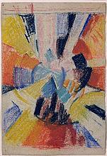Frantisek KUPKA 1871 - 1957 DISQUE - Circa 1911-1912 Pastel sur papier