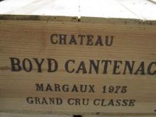 12 bouteilles CHÂTEAU BOYD CANTENAC 1973 3è GC Margaux (haute épaule