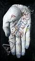 Annette MESSAGER (née en 1943) MES TROPHEES,( DYPTIQUE), 1987 Aquarelle sur toiles photographiques sur panneau