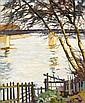 Alexandre ALTMANN (Sobolevska, 1885 -Nemours, 1934) PAYSAGE Huile sur toile