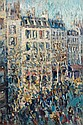Nicolas Alexandrovitch TARKHOFF (Moscou, 1871- Orsay, 1930) RUE DE PARIS ANIMEE Huile sur toile
