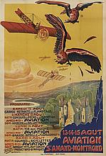 AFFICHE AVIATION MEETING SAINT-AMANT-MONTROND 1910