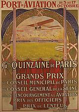 AFFICHE DU MEETING PORT-AVIATION 1909