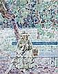 Louis RITMAN (Kamenets-Podolski, 1889 - Winona, 1963) JEUNE FEMME AU JARDIN Huile sur panneau