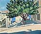 Guillaume ROGER (Paris, 1867 - 1943) LE MURIER A SAINT TROPEZ Huile sur toile