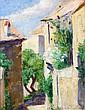 Georges de POGEDAIEFF (Pohzhedaevka,1894- Paris,1971) MAISON DE L'ARTISTE A MENERBES, 1967 Huile sur panneau d'isorel