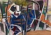 Maqbool Fida HUSAIN (1915-2011) TIGRE Huile sur toile