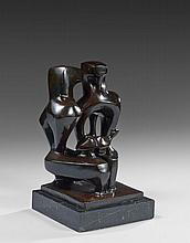 Augustin CARDENAS (1927 - 2001) SANS TITRE Bronze à patine brune