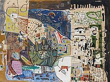 François ARNAL (1924 - 2012) SANS TITRE - 1950 Huile sur toile