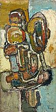 Jacques DOUCET (1924 - 1994) SANS TITRE - 1957 Huile sur toile