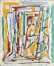Elvire JAN (1904-1996) VIERGE - 1948 Huile sur toile