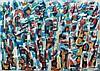 Elvire JAN (1904-1996) COMPOSITION - 1956 Huile sur toile