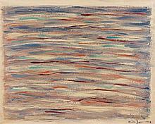 Elvire JAN (1904-1996) MEDITATION SUR LA MER - 1986 Huile sur toile