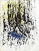 Hans HARTUNG (1904-1989) SANS TITRE - 1980 Encre et acrylique sur papier buvard marouflé sur toile