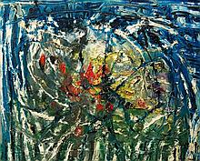 Thanos TSINGOS (1914-1965) SANS TITRE - 1955 Huile sur toile