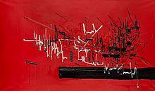 Georges MATHIEU (1921-2012) GORGIAS - 1958 Huile sur toile