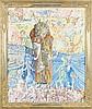 DADO (1933 - 2010) LA MAISON DE GARDE OU MY FIRST TOP COAT - 1964-65 Huile sur toile