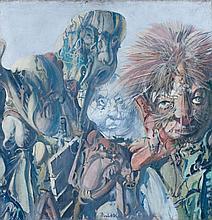DADO (1933 - 2010) LA GALERIE DES ANCETRES XV - 1970 Huile sur toile