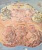 DADO (1933 - 2010) SANS TITRE - Circa 1957 Huile sur toile
