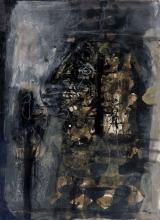 Antoni CLAVÉ (1913 - 2005) ROI - 1959 Technique mixte sur papier marouflé sur carton