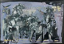 Antoni CLAVE (1913 - 2005) RIDEAU D'AVANT-SCENE POUR