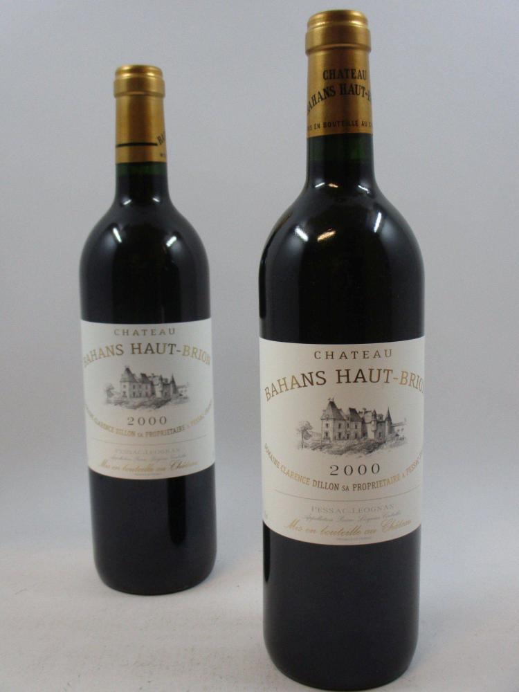 12 bouteilles CHÂTEAU BAHANS HAUT BRION 2000 Pessac Léognan Caisse bois d'origine (cave 13)